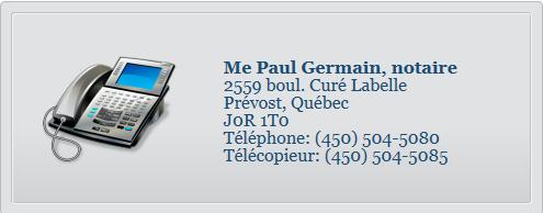 Paul Germain Notaire